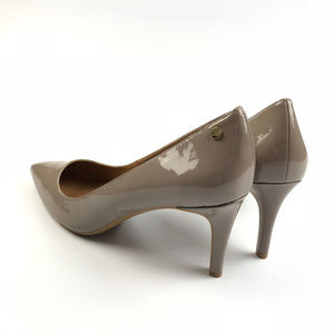 fdecad955f56 Calvin Klein Shoes - Calvin Klein Nilly Patent Taupe Nude Pumps Heels
